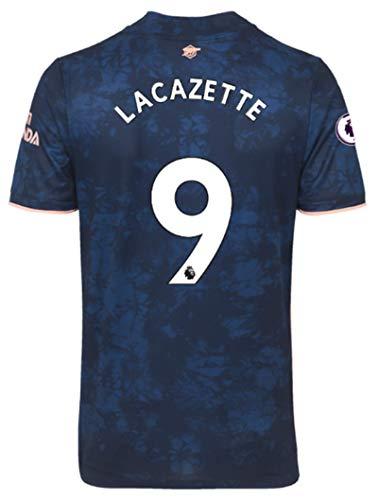 Jertinhf 2020-2021 Men's Third Soccer Jersey/Short Colour Navy (Arsenal Lacazette #9 (M))