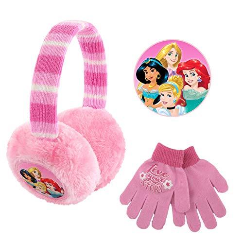 Disney Plush Earmuffs and Glove Set Pink Little Girls Ages 47