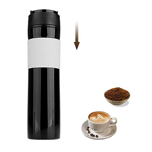 Kaffeebereiter, französische Kaffeepresse, Reisebecher, tragbar, Tee- und Kaffeebereiter, für heißen und kalten Kaffee, ideal für Pendler, Camping, Outdoor und Büro, 350 ml Kaffee-p-01