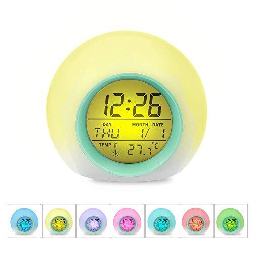 hlyhly Kleurrijke elektronische bal klok zonder natuurlijk geluid LED digitale kinderen pat klok