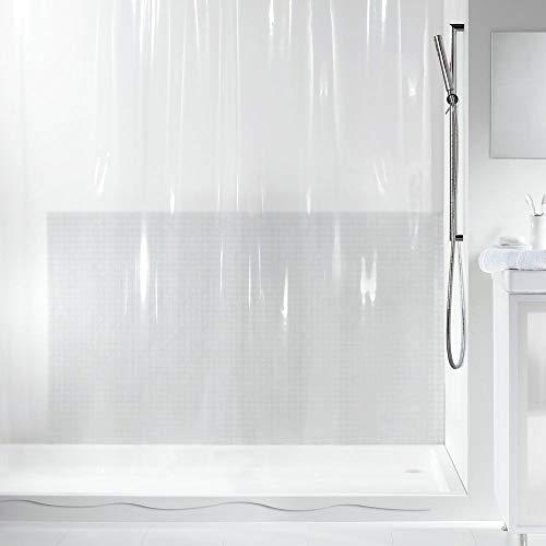 Spirella Anti-Schimmel Duschvorhang Transparent Anti-Bakteriell, waschbar, wasserdicht PVC 180x200cm