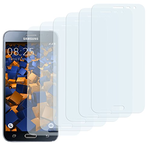mumbi Schutzfolie kompatibel mit Samsung Galaxy J3 2016 Folie klar, Bildschirmschutzfolie (6X)
