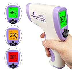 Multi Purpose Digital Infrared Thermometer, 3 Colors Digital Backlight Infrared Body, Non-Contact Forehead Thermometer Temperature Meter