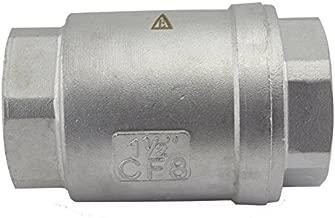 Duda Energy VCV-WOG1000-F150 Vertical Check Valve, 304 Stainless Steel, 1-1/2