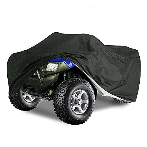 Cubierta impermeable para ATV 210D resistente al desgarro tela Oxford, apto para la mayoría de cuatros de cuatro ruedas (256 x 110 x 120 cm)