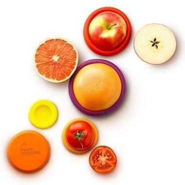 Food Huggers Set of Five Reusable Silicone Food Savers (Autumn Harvest)
