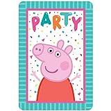 Peppa Pig Postcard Invitations   Multicolor   Paper   8 Pcs.