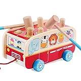 Hit Hamster en Bois Voiture De Voiture 1-2-3 Ans Infant Enfant Enfant Mâle Bébé Frapper Hit Hamster Grand Intellect Power Toy