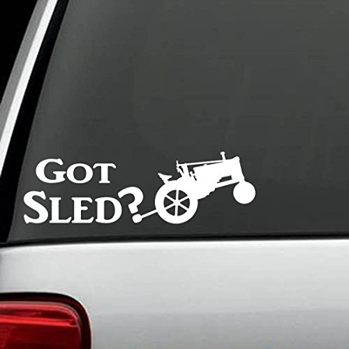 Muurstickers slaapkamer antieke tractor trekken slee decal stickers Die Cut Decal Sticker voor Windows, auto's, vrachtwagens, laptops, etc.