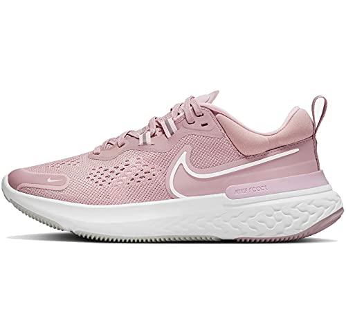 Nike Wmns React Miler 2, Running Donna, Plum Chalk White Pink Foam, 38 EU