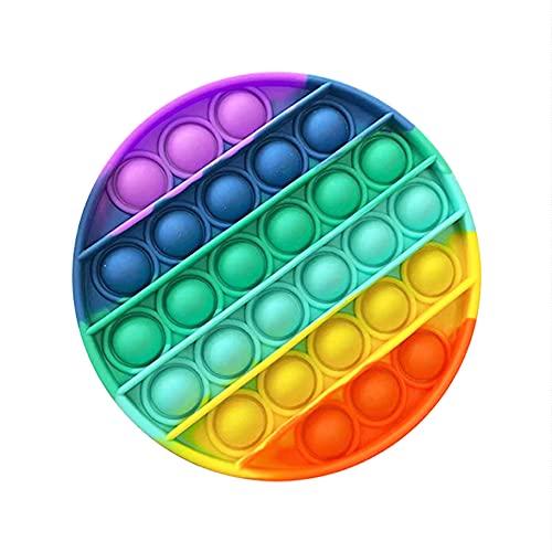 INIT Juguete Antiestrés Sensorial de Explotar Burbujas Push Pop Bubble Fidget Toy Herramientas para Aliviar el Estrés y la Ansiedad Ayuda Autismo y Necesidades Especiales Multicolor