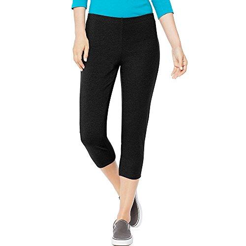 Hanes Women's Stretch Jersey Capri, Black, XX-Large