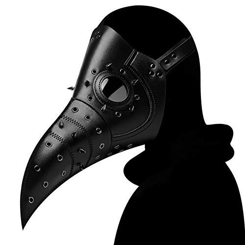 Renbin Máscara De Médico De La Peste Negra, para Navidad/Scary Halloween Disfraz/Cosplay/Grimace...