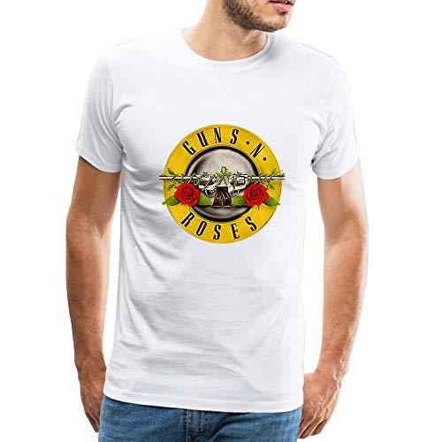 Official Guns N' Roses Bullet Camiseta para Hombre Manga Corta Blusa Tops T-Shirt