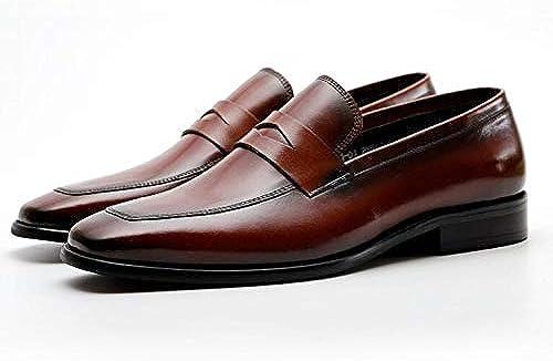 LOVDRAM Chaussures en Cuir pour Hommes Nouveau Hommes Chaussures Slip sur en Cuir Oxford Confortable Hommes De Mariage Flats Male Casual Chaussure pour Les Affaires chaussures Hombre