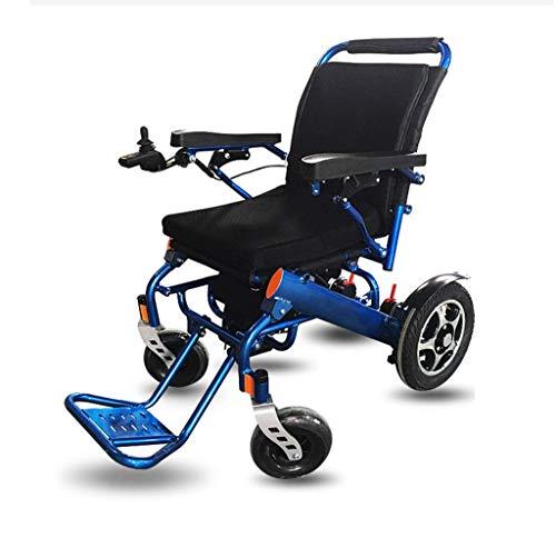 ZXL Zusammenklappbarer Elektrorollstuhl, ultraleichter Lithiumbatterie-Rollstuhl (55 Pfund), elektronisches Parken mit Zwei Motoren und Anti-Rückwärts-Mobilitätsroller für ältere Menschen (blau)