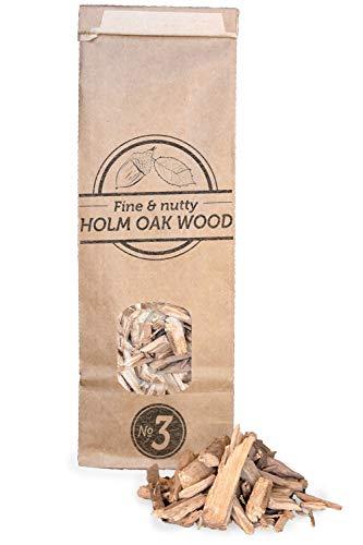 Smokey Olive Wood 500mL virutas de Madera de encina para Barbacoa y ahumar, Talla Nº3: 2-3cm
