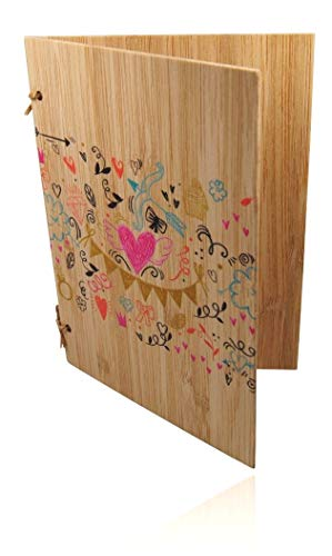 Handgefertigte beschreibbare Bambuskarte | Hochzeitskarte | Geburtstagskarte | Geschenkkarte | Weihnachtskarte | Einladung Karte Holz | von SZillion®