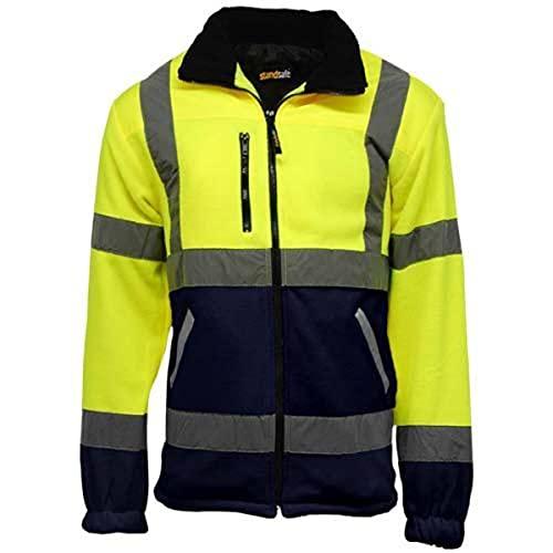 Chaqueta forro polar alta visibilidad/seguridad en el trabajo para hombre, 100%...