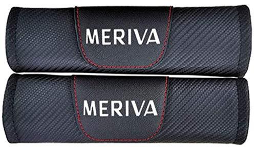 MISSLYY 2 Stück Auto Sicherheitsgurt Schulterpolster für Opel Meriva,Schützen Schulter Polster Mit Automarken-Logo Bequem und geschmeidig Auto Innere Zubehör