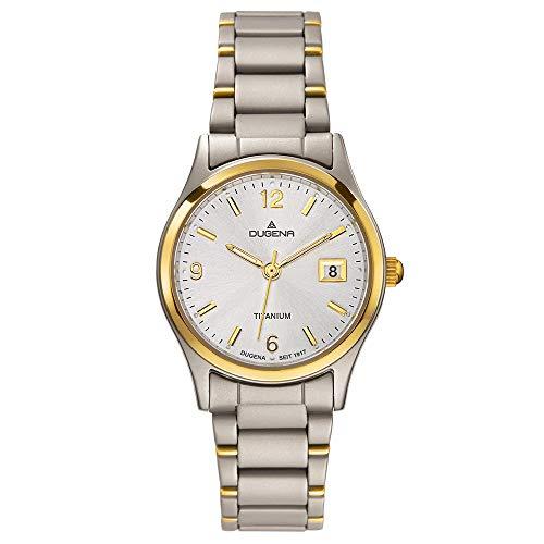 Dugena Classic 4460333 - Reloj de Mujer de Cuarzo, Correa de Titanio Color