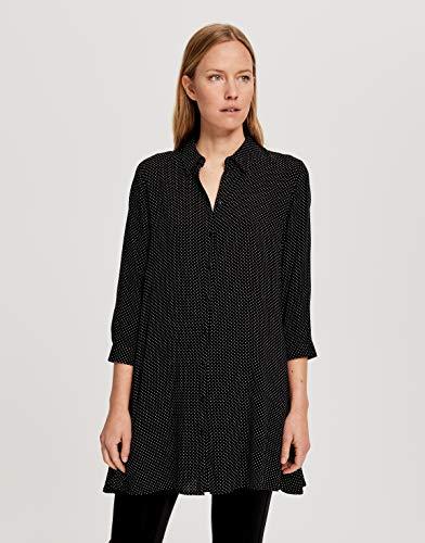 OPUS Damen Florenze Bluse, Black, 36