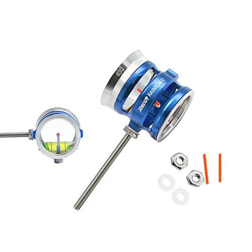 ZSHJG Archery Compound Bow Sight 4X 6X 8X Lens Stainless Steel Scope Optical Fiber Sight for Hunting (Blue, 6X ID 30mm)