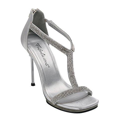 Fabulicious Chic-21 - Sexy High Heels Sandaletten mit Metallabsatz 35-42, Größe:EU-38/US-8/UK-5