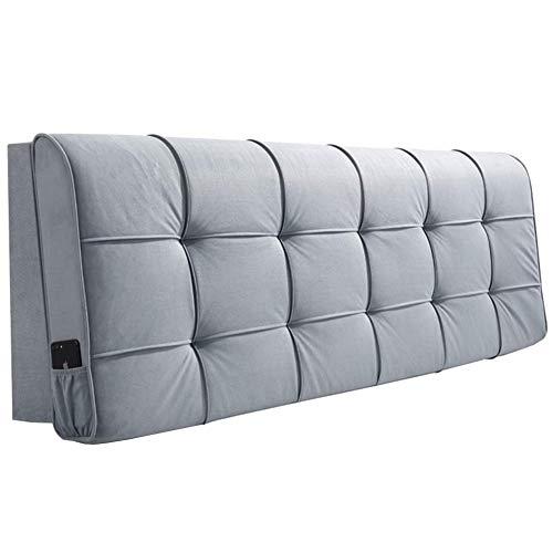 Kopfteil Rückenlehnen Bett Kissen Hüftpolsterbezug Bett Wedges Rückenlehne Waschbares Kissen Hauptschlafzimmer Bauchgurt Rückenlehne Einfach zu säubern, 5 Farben ( Color : #1 , Size : 160x58cm )
