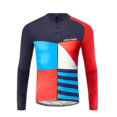 Uglyfrog Maillot de Cyclisme pour Homme Séchage Rapide Respirant Maillot de Vélo Manches Longues