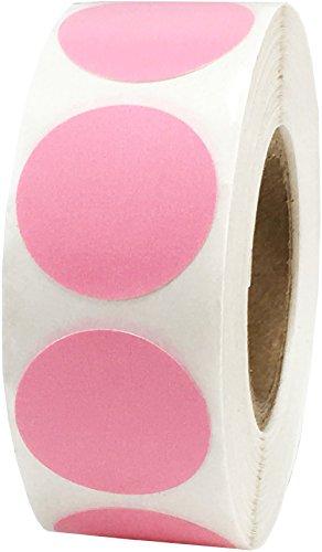 Rosa Adesivi a Cerchio, 19 mm 3/4 Pollice Etichette a Punti 500 Pacchetto