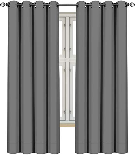 Utopia Bedding 2 Panels Eyelet Blackout Curtains Thermal Insulated for Bedroom,...