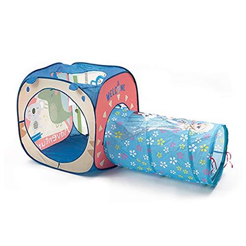 XNEQ Tienda De Túnel para Juegos Infantiles, Tubo De Rastreo De Arco Iris con Luz Solar, Juguetes De Perforación para Bebés En Interiores Y Exteriores