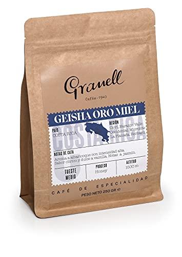 Cafés Granell - Cafe Especialidad | Cafe Grano Geisha Oro Miel - Cafe en Grano Natural, Cafe de Especialidad, Origen Costa...