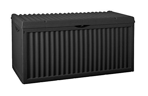Auflagenbox, schwarz/grau, 350L, 120cm - 2