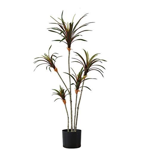 生活設備本物そっくりの人工樹木北欧スタイルの人工樹木リビングルーム屋内シミュレーションプラントドラセナフェイクグリーンプラント鉢植えのフェイクツリーデコレーション人工植物(サイズ:140CM)