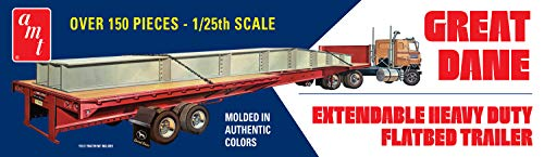 AMT Great Dane Extendable Flatbed Trailer 1:25 Scale Model Kit