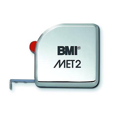 BMI 490341210 zakbandmaat MET, lengte 3 m, wit gelakte band, zonder clip