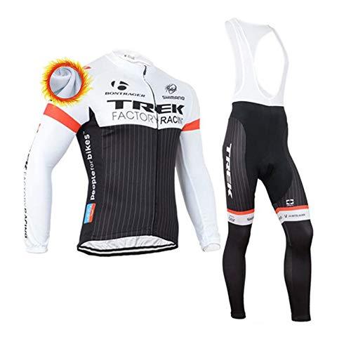 Completo Ciclismo Uomo Abbigliamento Ciclismo Invernale con Pantaloni Lunga da Ciclismo Termica Maglia Zip Invernale MTB (Molti Stili)