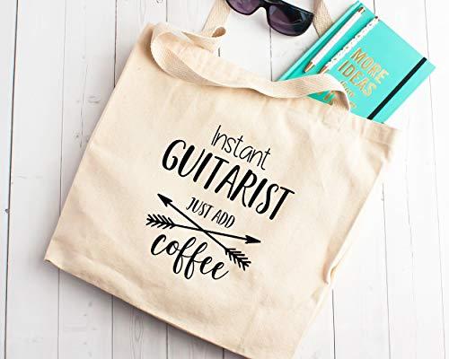 Gift Guitarrist Just Add - Bolsa de la compra de lona para...