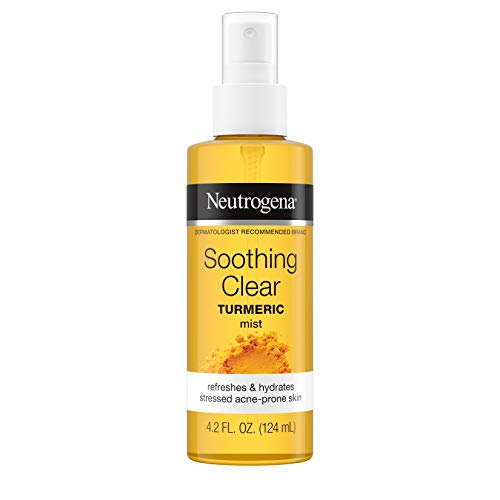 Neutrogena Soothing Clear Calming Facial Mist Spray with Turmeric, Hydrating and Refreshing Facial Mist for Acne Prone Skin, Oil-Free, Not Tested on Animals, 4.2 fl. oz