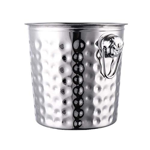 TJLSS Cubo de Hielo - La Barra de Herramientas Conjunto de Acero Inoxidable, Incluye Coctelera de Bebida de Mezcla Doble del Aparejo Cubo de Hielo (Size : Small)