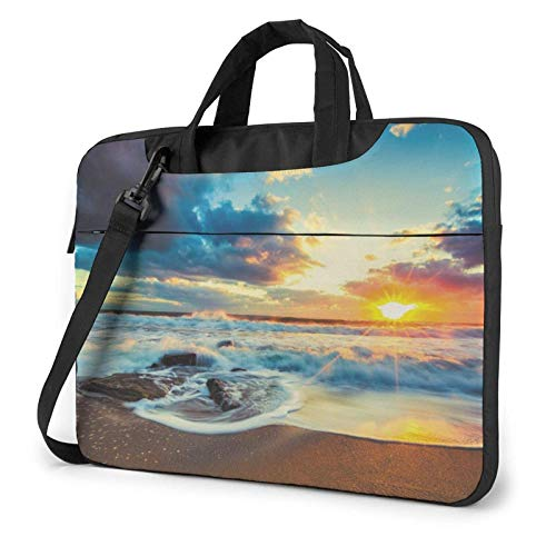 Cloudy Sunset Sky Lightweight Waterproof Laptop Notebook Shoulder Backpack Bag Briefcase Messenger with Strap 15.6″