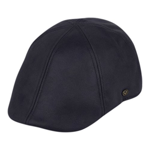 EPOCH Faux Suede Leather Newsboy Flat Cap Ivy Driver Hunting Hat (L/XL, A Navy)