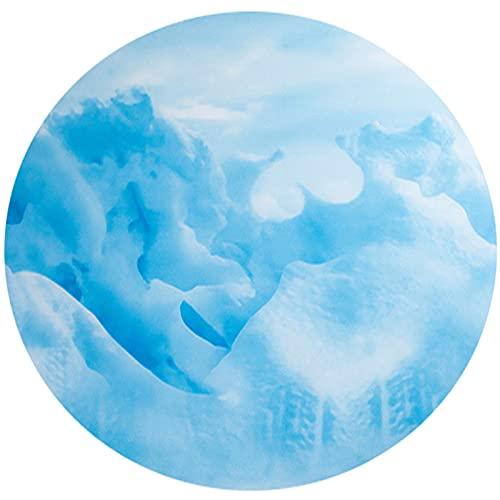 SWEAR Alfombra redonda para silla de oficina   Durabilidad piso plástico para sillas   Protector de piso duro y protector de alfombra de pelo bajo (tamaño: 80 cm, color: A)