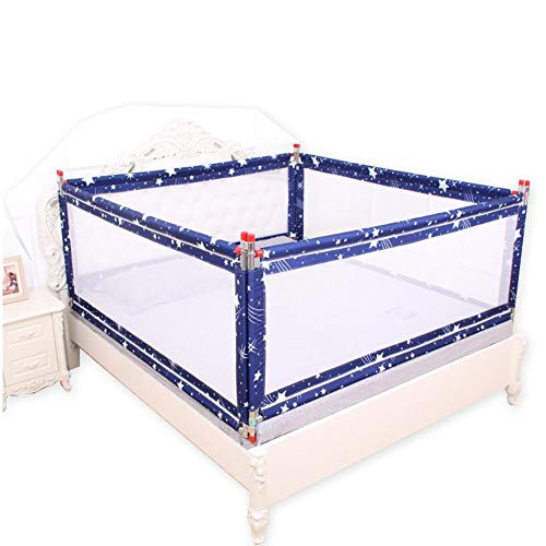 Buy Discount MUMA-Bed Rails Extra Long Bed Guardrail - Vertical Elevating with Ventilation Net - Sui...