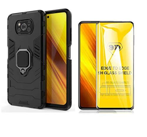Capa Anti Impacto Ring Xiaomi Poco X3/X3 PRO+ Película De Vidro 9d