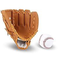野球 グローブ 野球 グラブ 野球スポーツ 野球手袋 軟式 大人 少年 子供用グローブ 一般用 多色選び 野球運動 初心者 トレーニング用 練習用 専用糸 耐衝撃 耐久性 (イエロー,少年11.5インチ)