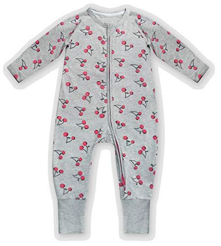 Dim 0A0I Pijama Largo para bebés y niños pequeños, Cerise Gris, 12 Meses