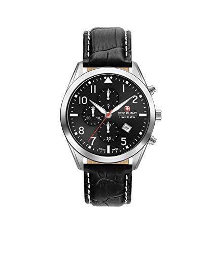 Swiss Military Herren Chronograph Quarz Uhr mit Leder Armband 06-4316.04.007